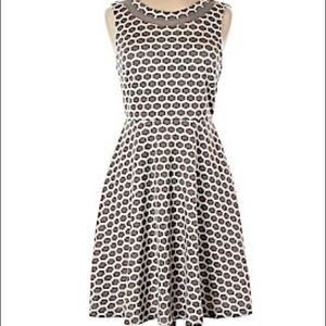Pixley Grey & White Honeycomb Pattern Dress